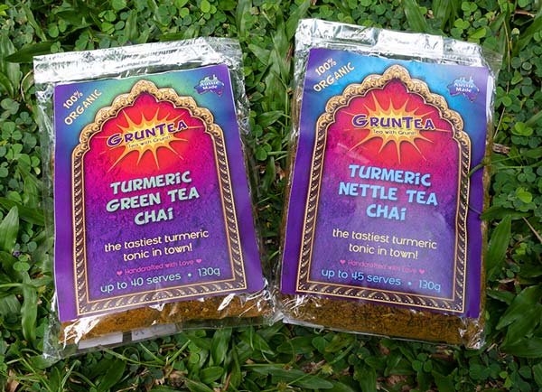 130g bags on grass